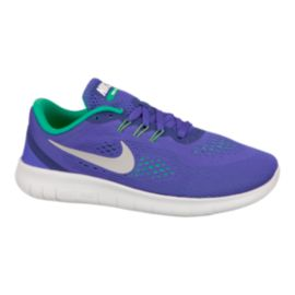 Nike Kids' Free Run Grade School Running Shoes - Blue/Platinum/Green