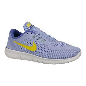 10b30e85ab0b Nike Girls  Free Run Grade School Running Shoes - Lime Blue