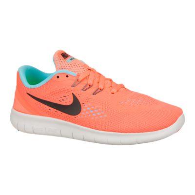 Nike Girls' Free Run Preschool Running Shoes - Black/Blue