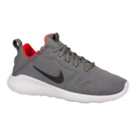 Nike Kids' Kaishi 2.0 Grade School Casual Shoes - Grey/Orange/White