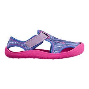 87aebbfedab0 Nike Girls  Sunray Protect 1.5 Preschool Sandals - Purple Pink