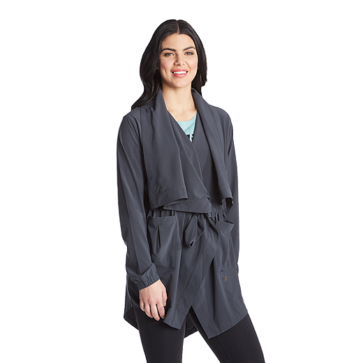5462a1bbb12aa New Balance Women's Studio En Route Woven Coverup Long Sleeve - OTS  OUTERSPACE