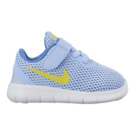 Nike Toddler Free RN Running Shoes - Aluminum/Lime/Blue