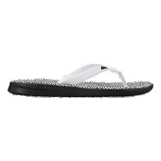 20cc921e9 Nike Women's Solay Thong Print Sandals - Black/White | Sport Chek