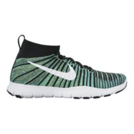 Nike Men's Free Train Force FlyKnit Training Shoes - Green/White