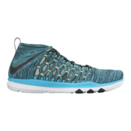 Nike Men's Train UltraFast FlyKnit Training Shoes - Teal Blue/White