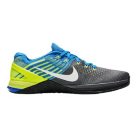 Nike Men's Metcon DSX FlyKnit Training Shoes - Grey/Blue/Volt Green