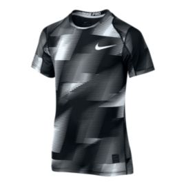 Nike Pro Cool Boys' Fitted All Over Print Shirt