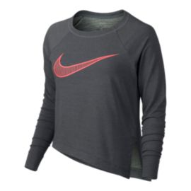 Nike Women's Swoosh Asym Long Sleeve Shirt