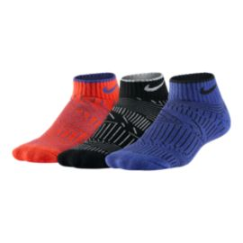 Nike Boys' Cotton Graphic Cushion Low Cut Socks 3 - Pack