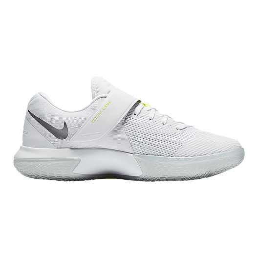 4d2ee459cbcd Nike Women s Zoom Live Basketball Shoes - White Grey