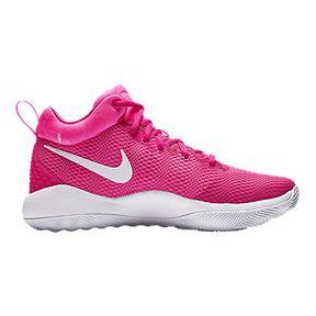 ae5d7e8feb95 Nike Women s Zoom Rev Basketball Shoes - Pink White