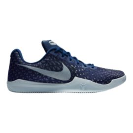 Nike Men's Kobe Mamba Instinct Basketball Shoes - Blue Pattern/White