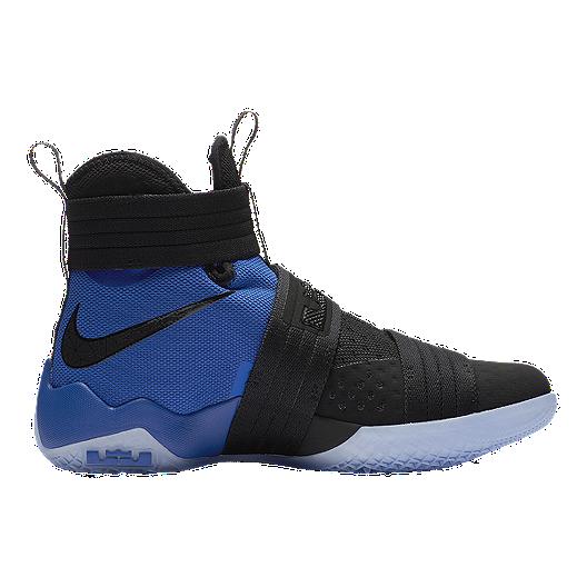 40b1f526fe5ad Nike Men s LeBron Soldier 10 Basketball Shoes - Black White Royal ...