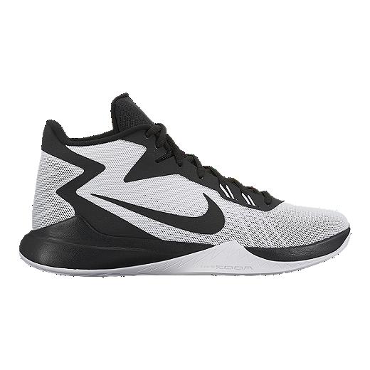super popular 95cc3 73338 Nike Men s Zoom Evidence Basketball Shoes - White Black   Sport Chek