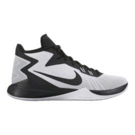 nike gli zoom prove scarpe da basket bianco / nero sport chek