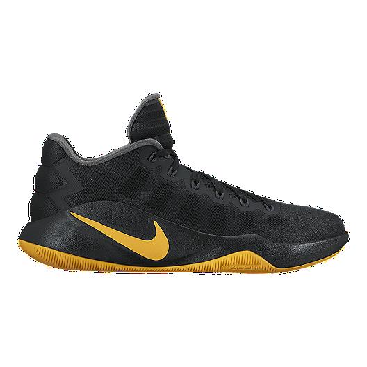 best website c3832 b74bc Nike Men s Hyperdunk 2016 Low Basketball Shoes - Black Gold   Sport Chek