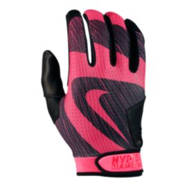 Nike Hyperdiamond Edge Batting Glove - Black/Pink