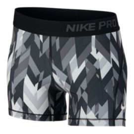 Nike Pro Cool Girls' Geo All Over Print Shorts