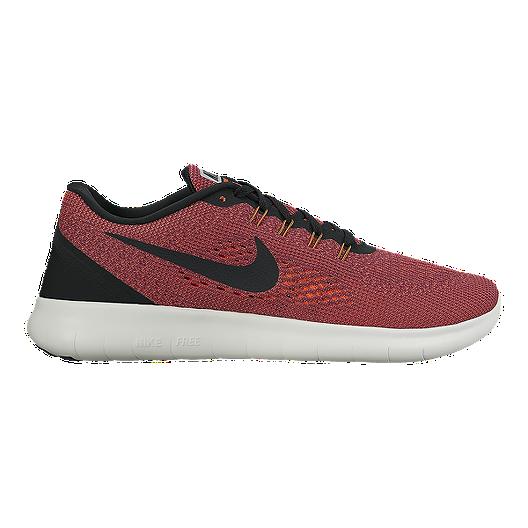 6bafca7989b7 Nike Men s Free RN 2016 Running Shoes - Red Orange Black