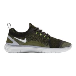 Nike Men's Free RN Distance 2 Running Shoes - Olive Green/Black
