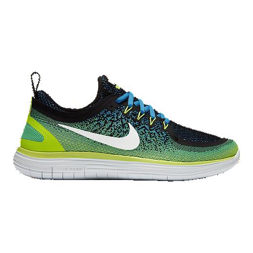 pretty nice 95130 3ada0 Nike Men s Free RN Distance 2 Running Shoes - Green Blue Black   Sport Chek