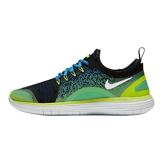 db0764a07f3 Nike Men s Free RN Distance 2 Running Shoes - Green Blue Black. (0). View  Description