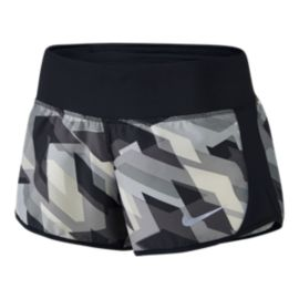 Nike Women's Run Geo All Over Print Crew Shorts