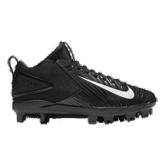 1548f840fb27 Nike Men s Trout 3 Pro MCS Baseball Cleats - Black White Grey ...