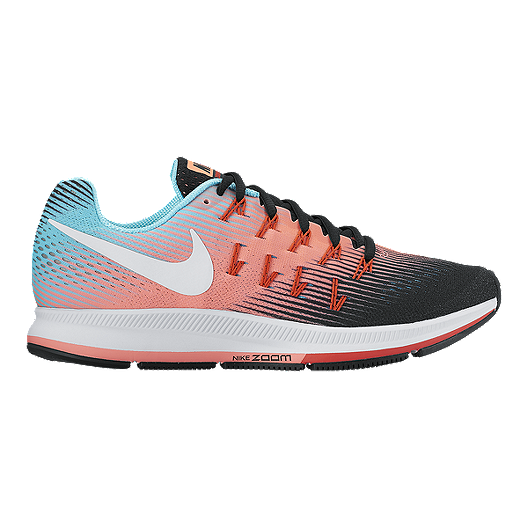 reputable site 55546 c44aa Nike Women's Air Zoom Pegasus 33 Running Shoes - Pink Orange/Black/Light  Blue | Sport Chek