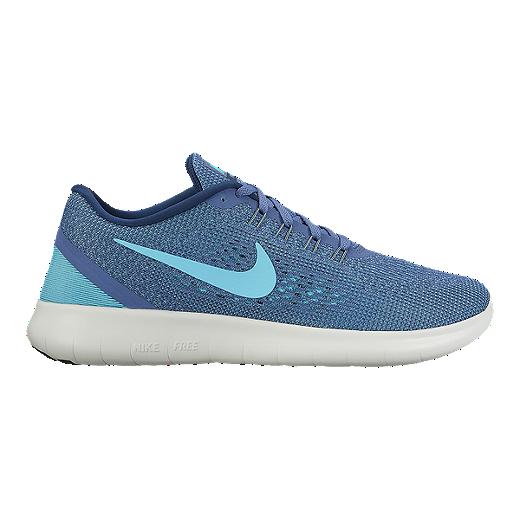 uk availability 6ade0 eade4 Nike Women's Free RN 2016 Running Shoes - Blue/Light Blue