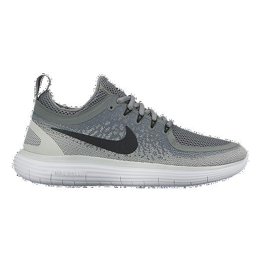 ba739f426255a Nike Women s Free RN Distance 2 Running Shoes - Grey White