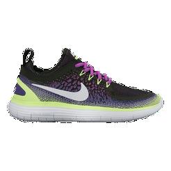 d394114028954a Nike Women s Free RN Distance 2 Running Shoes - Purple Green Pattern Black