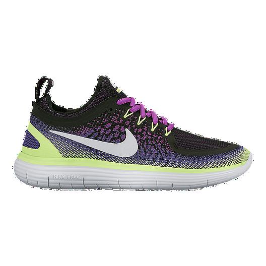 promo code c4e76 18d3f Nike Women s Free RN Distance 2 Running Shoes - Purple Green Pattern Black    Sport Chek