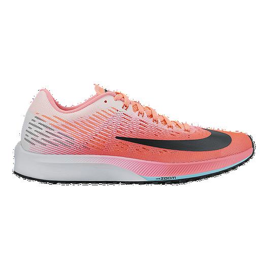 3172b606283c Nike Women s Air Zoom Elite 9 Running Shoes - Orange Light Grey Light Blue