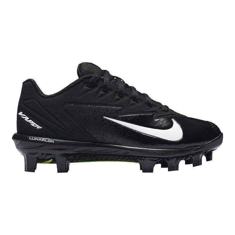 Image of Nike Kids' Vapor UltraFly Pro MCS Grade School Baseball Cleats - Black/White/Volt