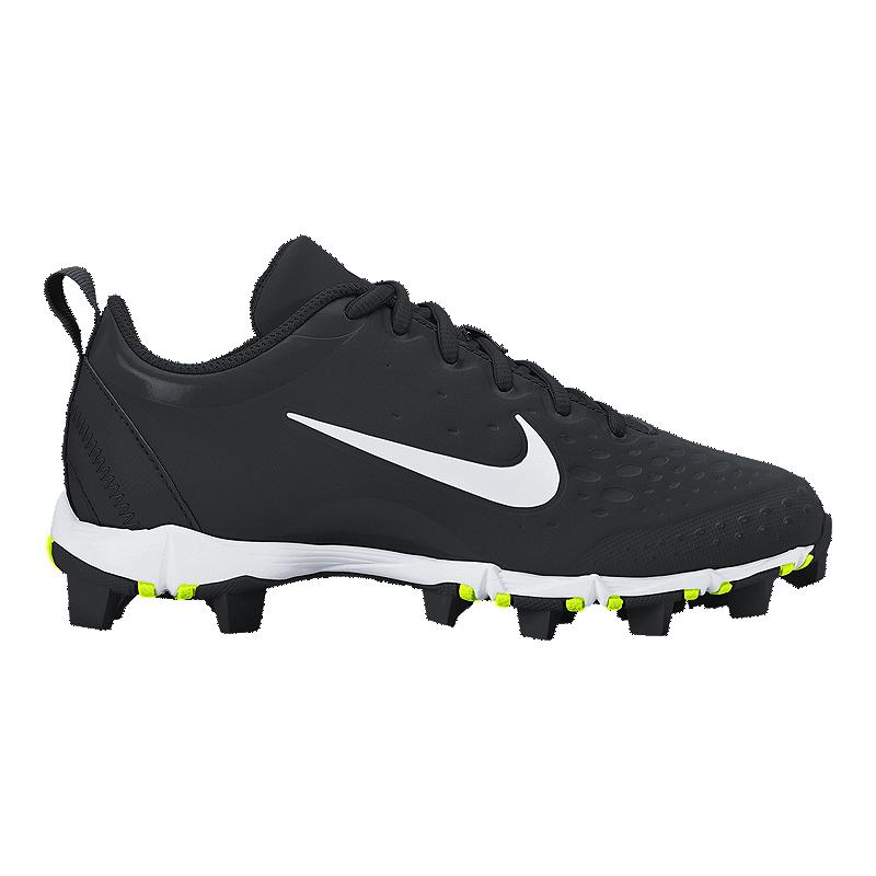 985e1a9934c Nike Girls  HyperDiamond 2 Keystone Softball Cleats - Black White ...