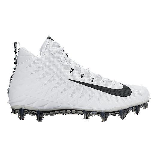 new products e1bb4 2ae66 Nike Men s Alpha Menace Pro TD Mid Football Cleats - White Black   Sport  Chek
