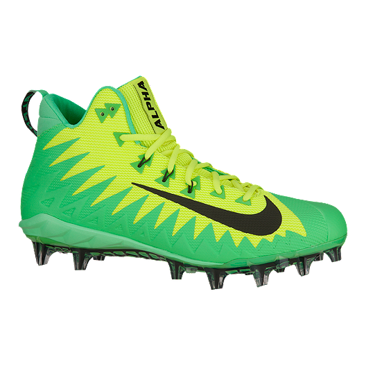 huge selection of 8218a 7f042 Nike Mens Alpha Menace Pro TD Mid Football Cleats - Volt GreenBlack   Sport Chek
