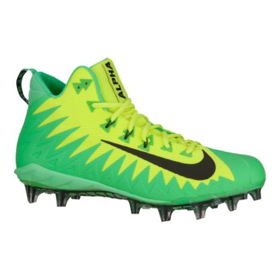 Nike Men\u0027s Alpha Menace Pro TD Mid Football Cleats - Volt Green/Black