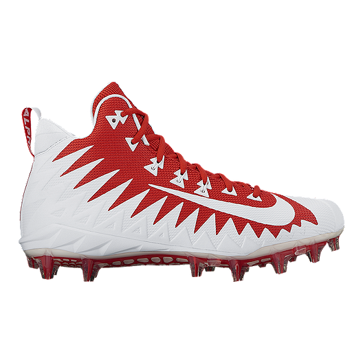 1db01d82d4a Nike Men s Alpha Menace Pro TD Mid Football Cleats - Red White ...