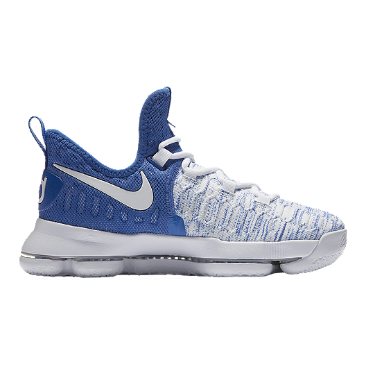 acec11b54498 Nike Kids  Zoom KD9 Grade School Basketball Shoes - Royal White ...
