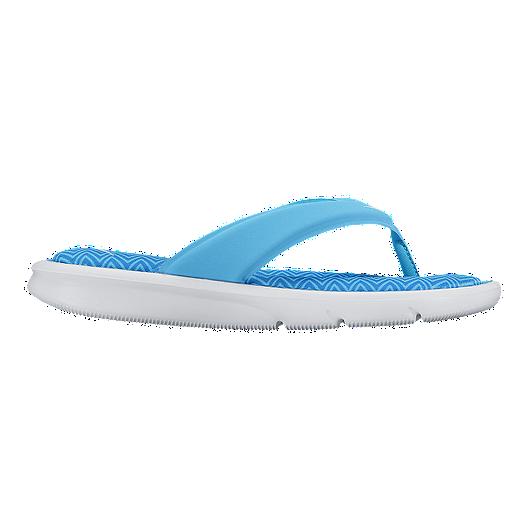 faa1e26ee118 Nike Women s Ultra Comfort Thong Print Sandals - Blue White