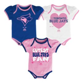 Toronto Blue Jays Lil Fanatic 3 Piece Infant Bodysuit Set