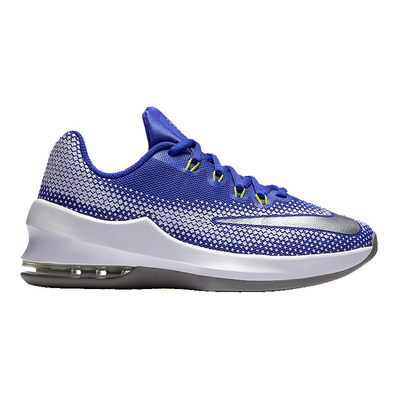 056fef789ba Nike Kids  Air Max Infuriate Grade School Basketball Shoes -  Blue White Grey