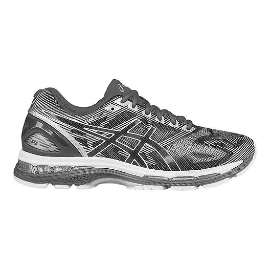 1a1c99b49 ASICS Men s Gel Nimbus 19 2E Wide Width Running Shoes - Grey Pattern ...