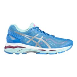 ASICS Women's Gel Kayano 23 Running Shoes - Blue/Light Blue/Silver