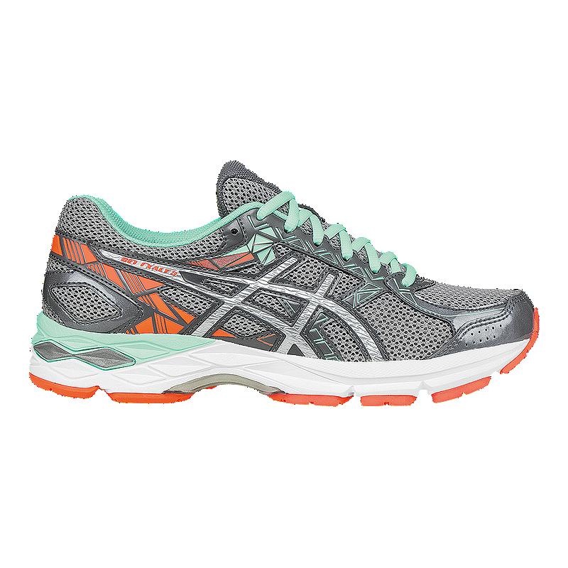 ASICS Women's Gel Exalt 3 Running Shoes - Silver Grey/Mint