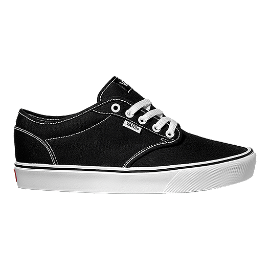 b831c90977f Vans Men s Atwood Lite (Canvas) Skate Shoes - Black White