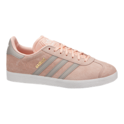 size 40 1555f 5b7c1 ... real adidas womens gazelle shoes pink grey white sport chek 09f4d e9ded